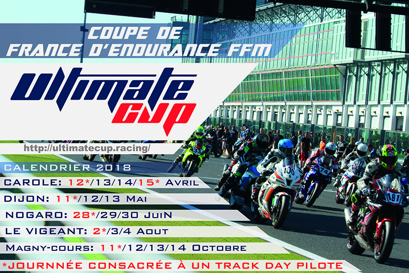 Calendrier Roulage Moto 2020.Calendrier 2018 Ultimate Cup
