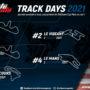 Ouverture des inscriptions aux Track Days 2021!